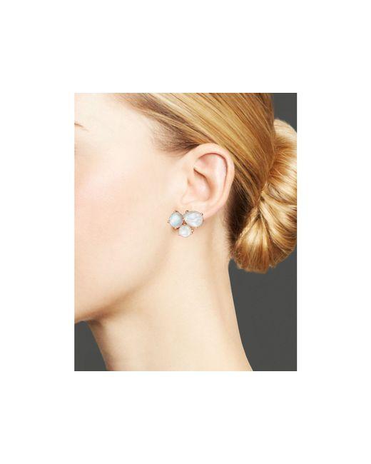 Ippolita | White Rock Candy Sterling Silver Cluster Stud Earrings | Lyst