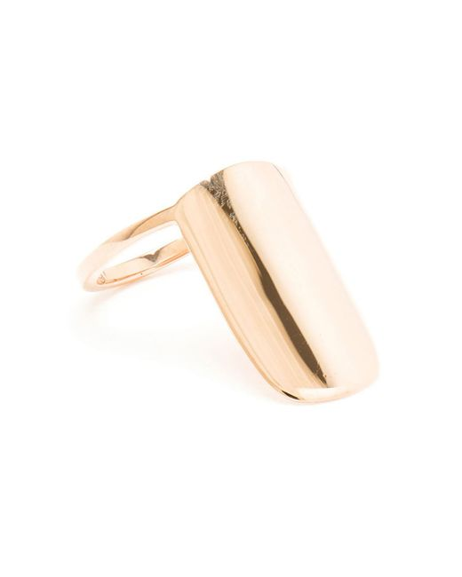 Asherali Knopfer | Metallic Rose Gold Nail Ring | Lyst