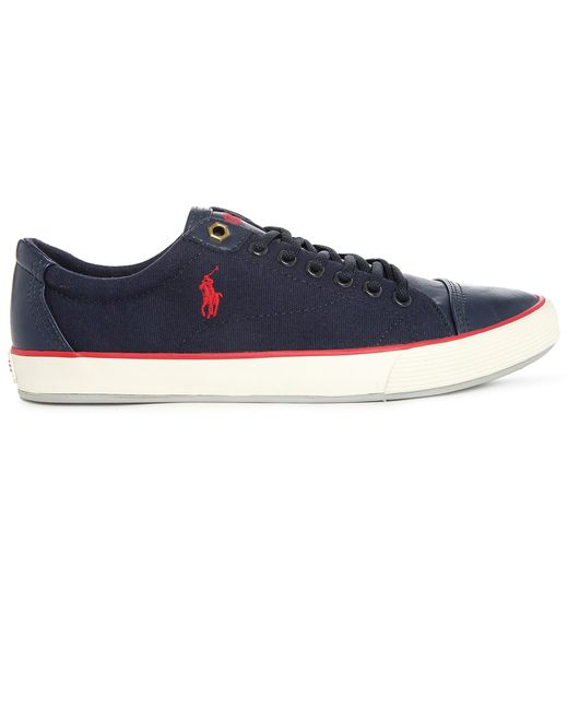 polo ralph klinger navy canvas sneakers in blue for