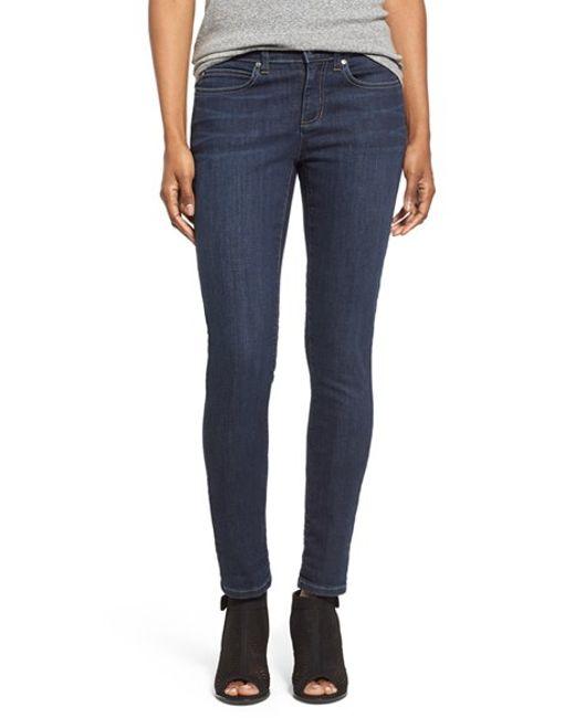 Eileen Fisher | Blue Stretch Skinny Jeans | Lyst
