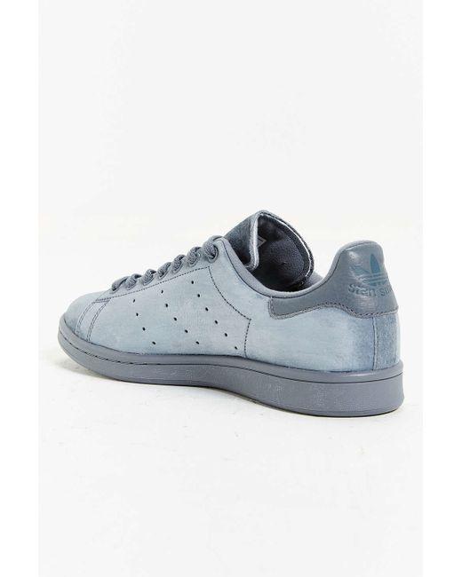 adidas originals suede stan smith sneaker in gray for men dark grey lyst. Black Bedroom Furniture Sets. Home Design Ideas
