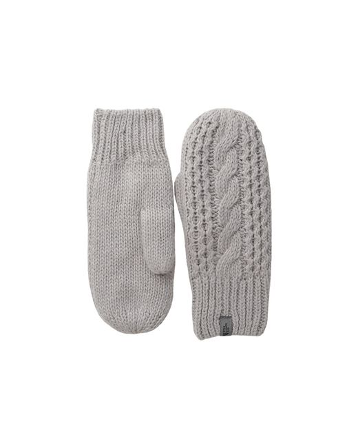 The North Face   Metallic Cable Knit Mitt   Lyst