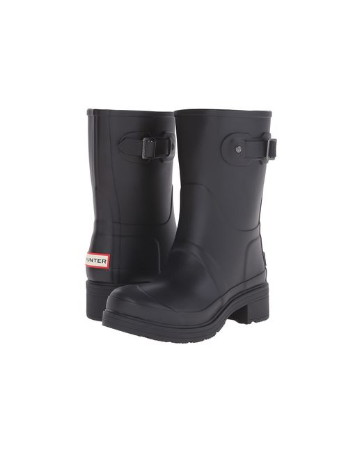 Hunter   Black Original Ankle Boot   Lyst