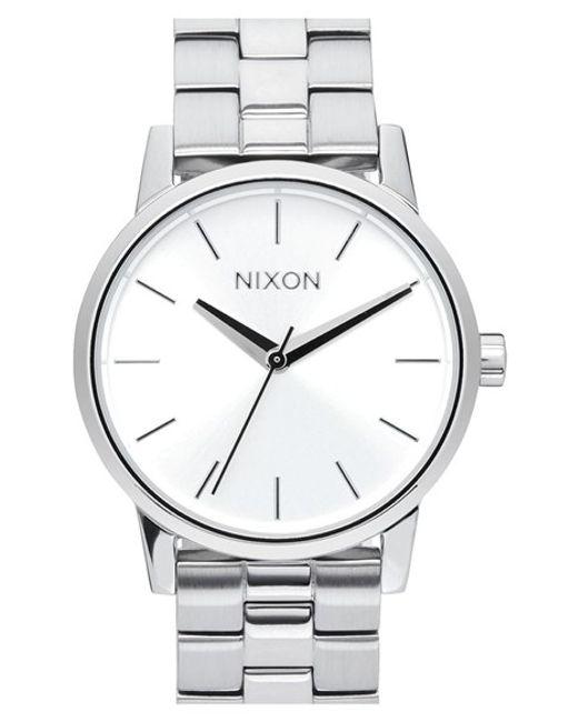 Nixon | Metallic 'kensington' Bracelet Watch | Lyst