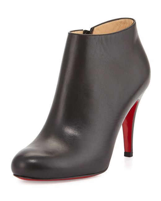 Christian Louboutin | Black Belle Leather Red-sole Ankle Boot | Lyst