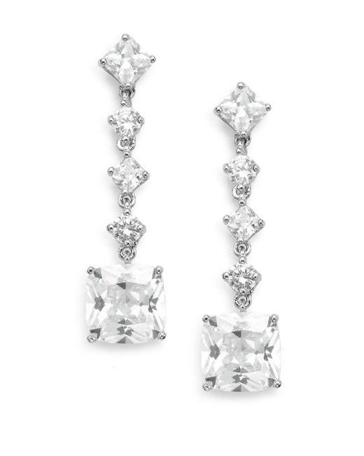 Saks Fifth Avenue   Metallic Linear Square Drop Earrings   Lyst