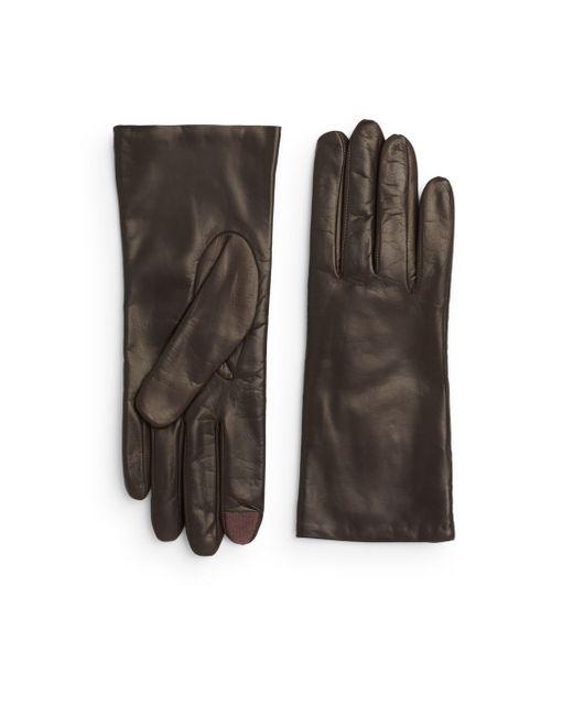 Portolano | Brown Leather Gloves | Lyst