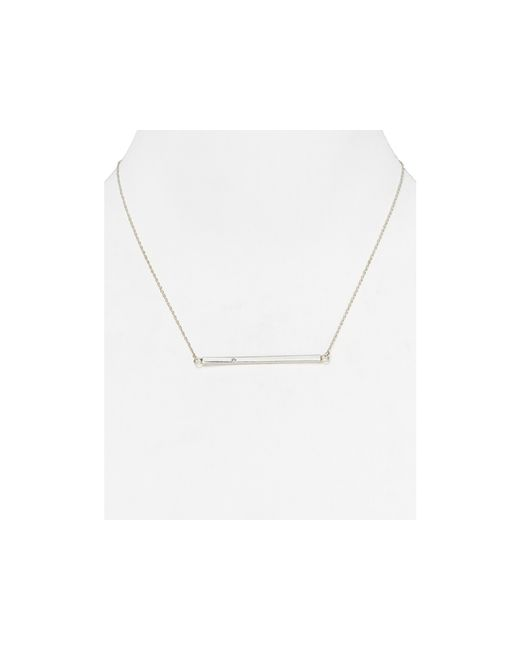 Jennifer Zeuner | Metallic Chelsea Horizontal Bar Necklace, 16"
