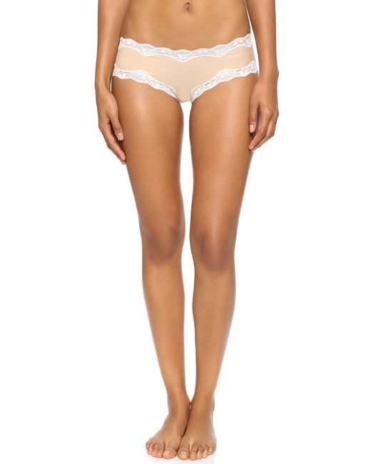Calvin Klein | Pink Hipster With Lace | Lyst