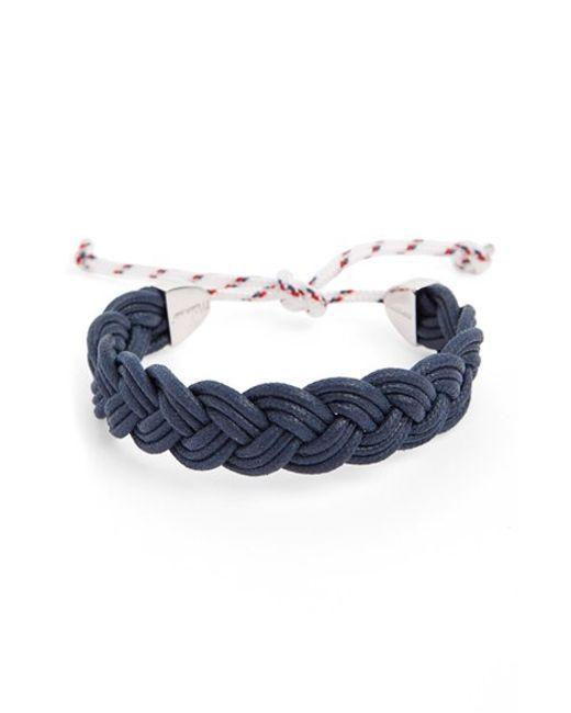 Miansai | Blue 'nantucket' Braided Bracelet for Men | Lyst