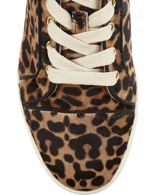 christian louboutin gondoliere leopard-print calf hair sneakers