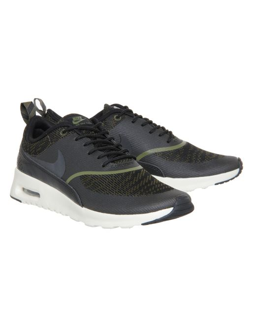 nike air max thea in green olive lyst. Black Bedroom Furniture Sets. Home Design Ideas
