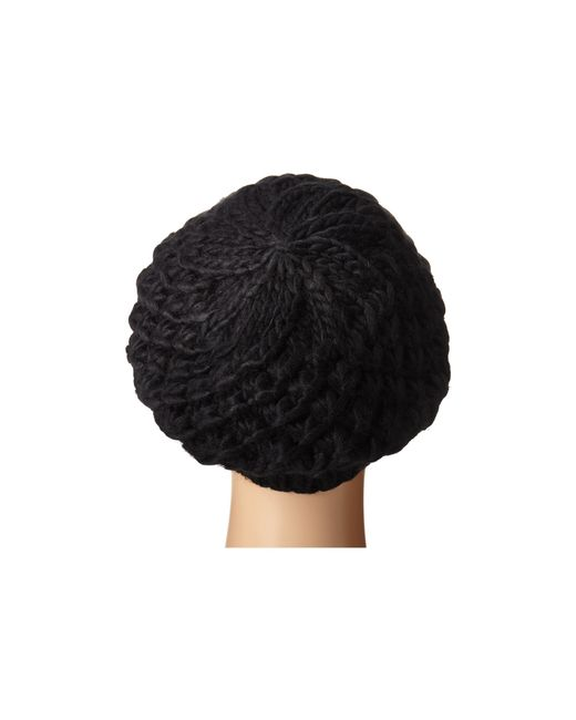 San Diego Hat Company | Black Knh3366 Chunky Yarn Woven Beret | Lyst