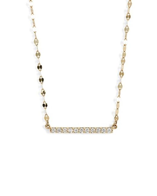 Lana Jewelry | Yellow 'mirage' Diamond Bar Pendant Necklace | Lyst