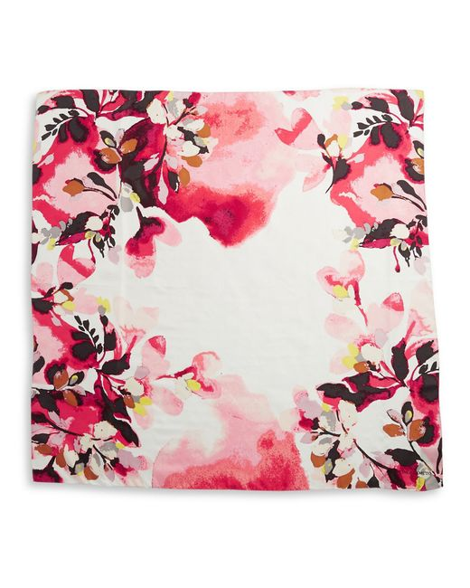 vince camuto floral silk scarf in multicolor pink save