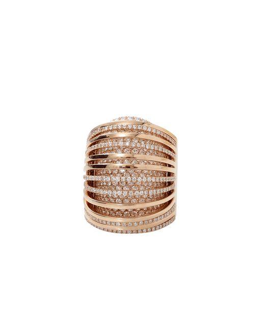 Mattia Cielo | Metallic Large Pavone Diamond Pave Ring | Lyst