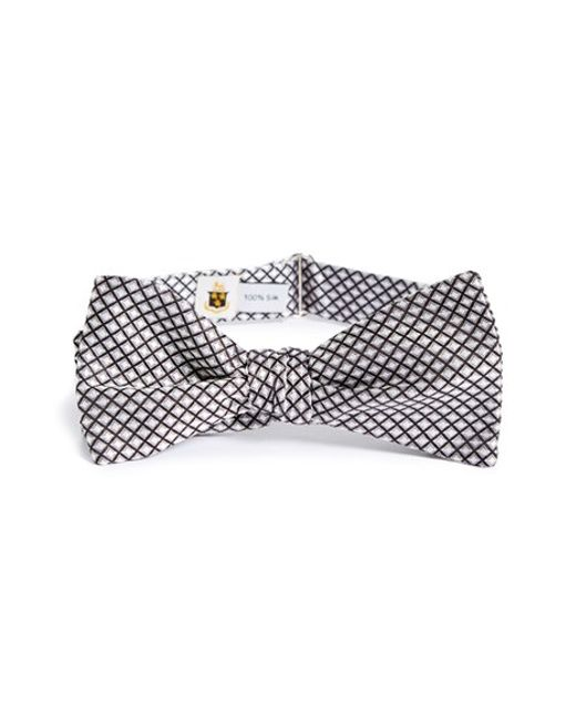 Robert Talbott | Black Paisley Check Bow Tie for Men | Lyst