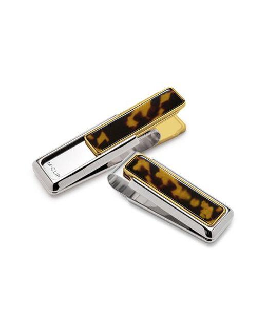 M-clip | M-clip Tortoiseshell Money Clip - Metallic for Men | Lyst