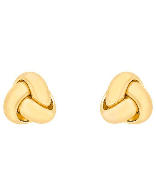 Ib&b | 18ct Yellow Gold Knot Stud Earrings | Lyst