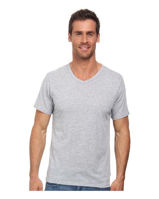 Nike | Gray Solid Futura V-neck Tee for Men | Lyst