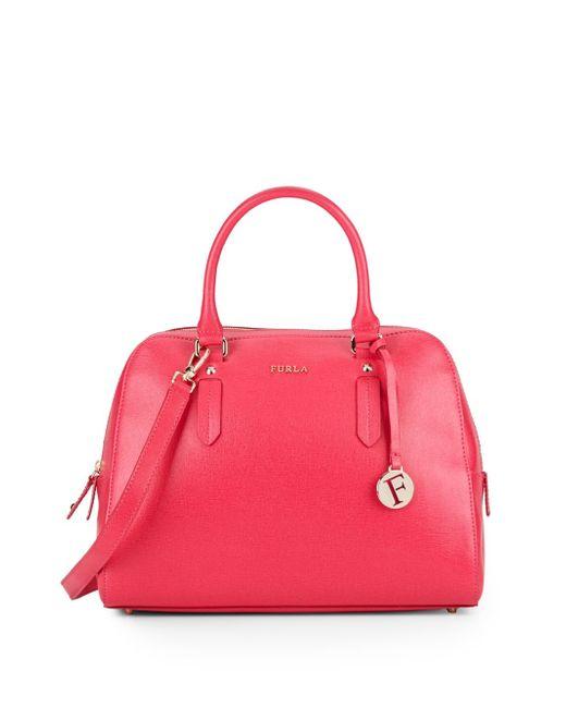 Furla | Pink Elena Medium Saffiano Leather Top-handle Bag | Lyst
