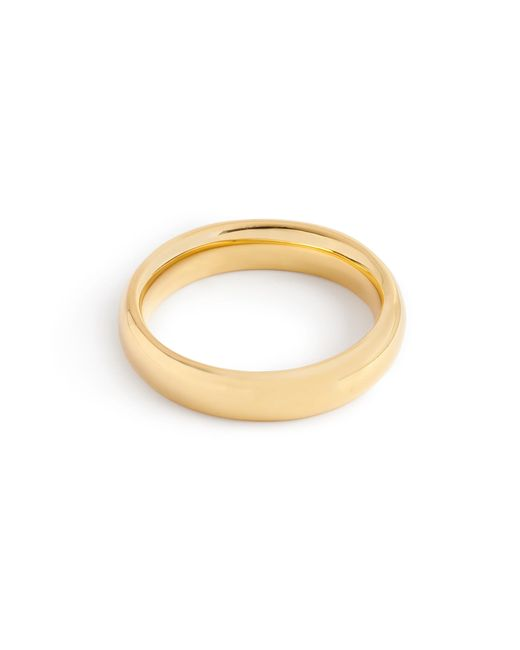 J.Crew | Metallic 14k Gold 4mm Rounded Band | Lyst