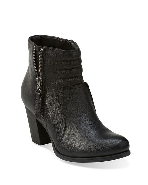 clarks palma leather ankle boots in black save 6