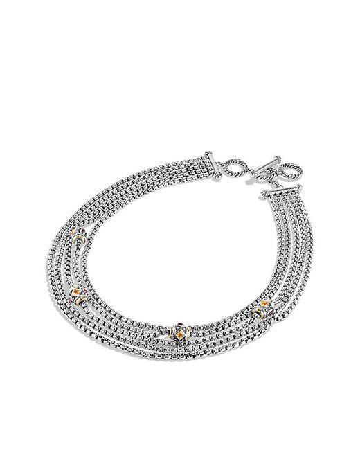 David Yurman | Metallic Renaissance Toursade Necklace With Citrine, Rhodalite Garnet And 18k Gold | Lyst