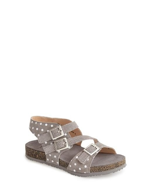 Think! | Gray ! 'dufde' Leather Sandal | Lyst
