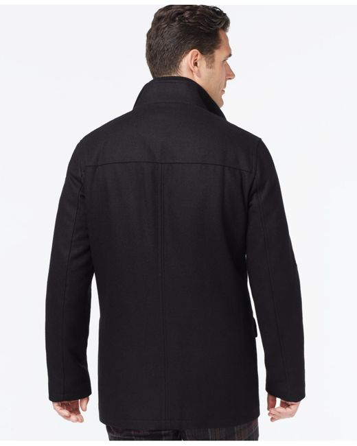 Cole Haan | Black Melton Jacket for Men | Lyst