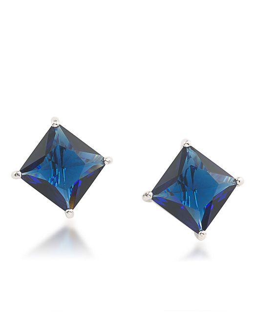 Carolee | Crystal Stems Blue Clip Earrings | Lyst