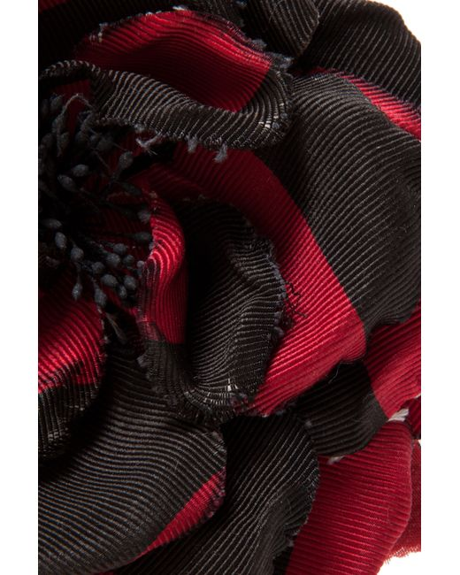 Alessandra Rich | Multicolor Silk Flower Pin | Lyst