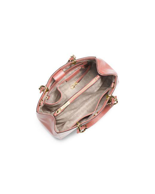 Michael Kors | Pink Cynthia Medium Leather Satchel | Lyst