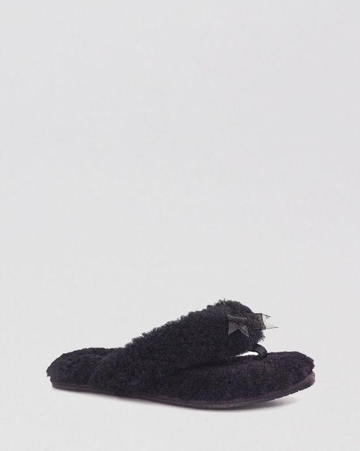 Ugg  Fluff Slipper Flip Flops In Black  Lyst-9566