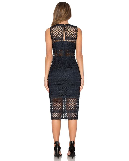 Nicholas Braided Lace Dress In Blue Lyst