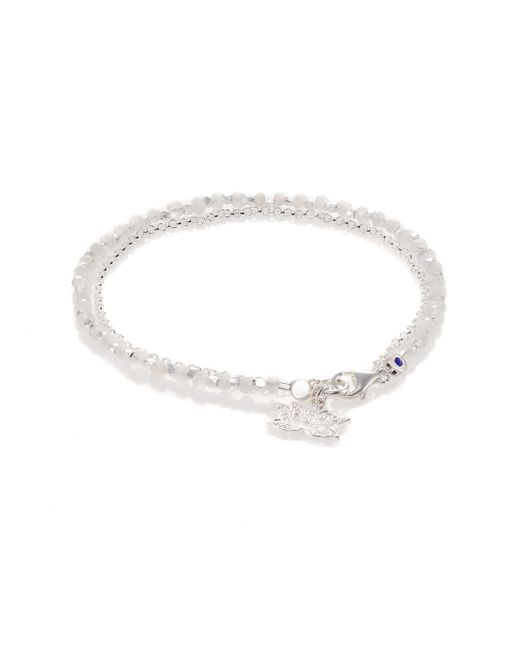 Astley Clarke | Metallic Biography White Sapphire, Moonstone & Sterling Silver Lotus Beaded Friendship Bracelet | Lyst