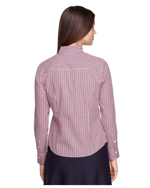 Brooks Brothers | Petite Non-iron Tailored Fit Ruffle Collar Dress Shirt | Lyst