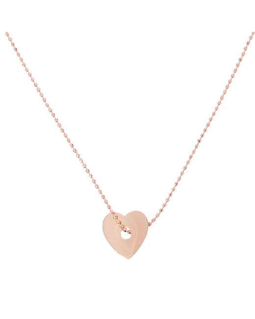 Ginette NY | Pink Inside Out Heart On Chain Necklace | Lyst