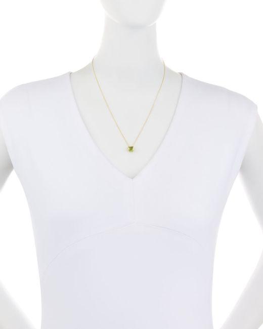 Ippolita | Metallic 18k Rock Candy Mini Single Square Sliding Peridot Pendant Necklace | Lyst