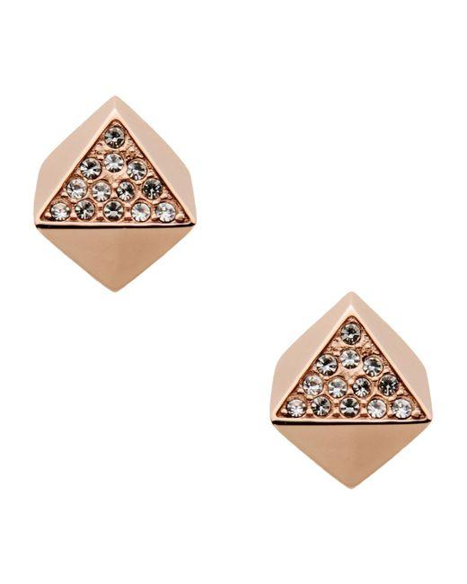 Fossil   Pink Earrings   Lyst