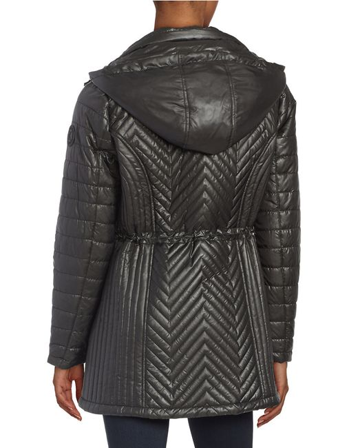 Karl Lagerfeld Quilted Jacket In Black Lyst