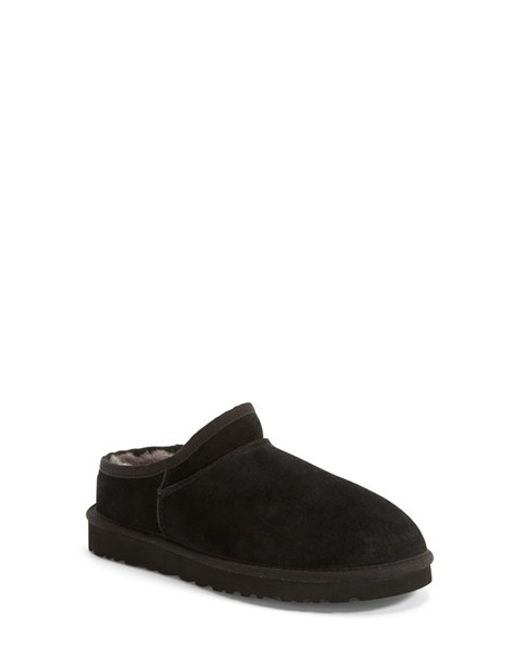 Ugg | Black 'classic' Water Resistant Slipper | Lyst