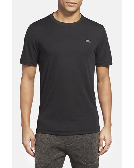 Lacoste | Black L!ve Pique Performance Crewneck T-shirt for Men | Lyst