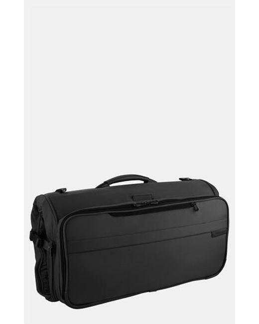 Briggs & Riley | Black 'baseline - Compact' Garment Bag for Men | Lyst