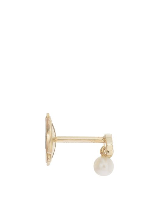 Yvonne Léon | Metallic Diamond And Pearl Earring | Lyst