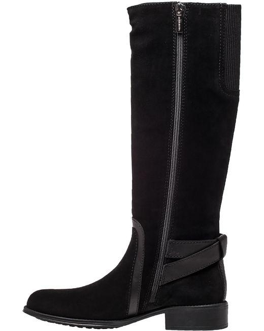 aquatalia uriale black suede boot in black black suede