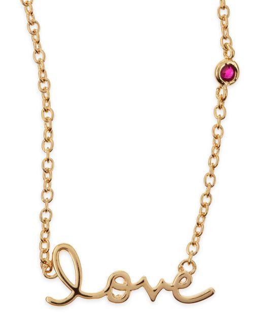 Shy By Sydney Evan | Metallic Love Bezel-ruby Pendant Necklace | Lyst