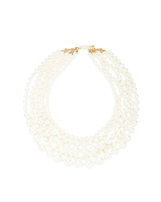 Forever 21 | White Layered Faux Pearl Necklace | Lyst