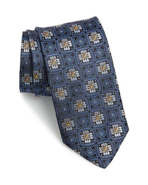 JZ Richards | Blue Floral Silk Tie for Men | Lyst