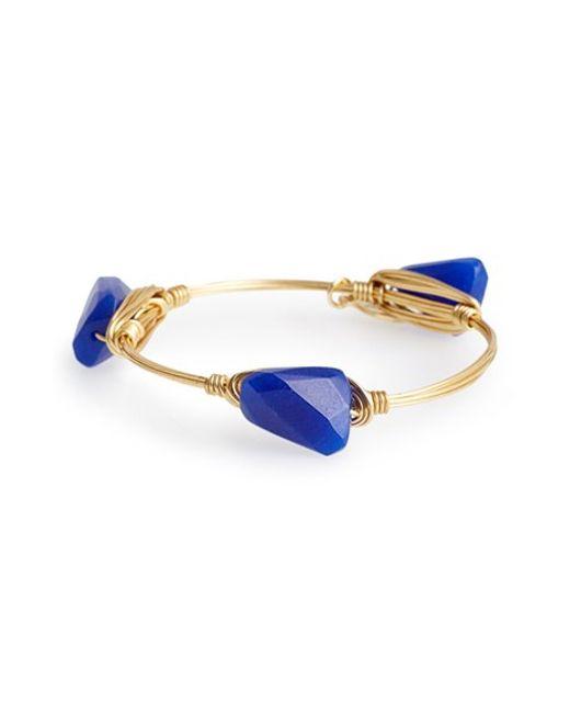 Bourbon and Boweties | Blue 'Xs' Stone Bracelet | Lyst